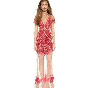 FOR LOVE & LEMONS Floating Luau Maxi Dress Mesh